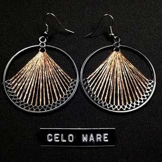 美好年代 復古 線條 耳勾式耳環 Earing / CELO WARE