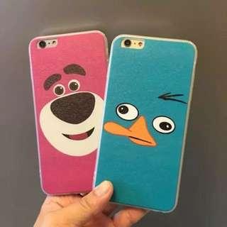 熊抱哥/鴨嘴獸泰瑞iPhone 全包蠶絲紋軟殼