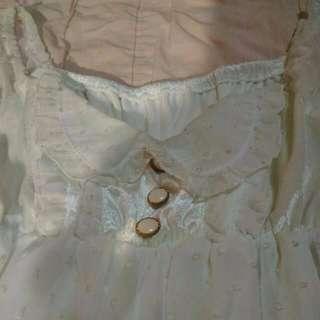 降價重PO!白色雪紡甜美公主風上衣(全新)