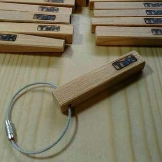 純手工設計製造*台灣檜木鑰匙圈/個(含運費)