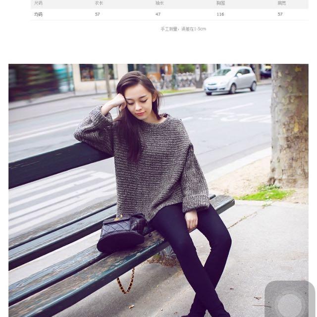 寬鬆慵懶針織毛衣衫