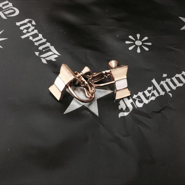 「日本帶回」蝴蝶結夾式耳環✨