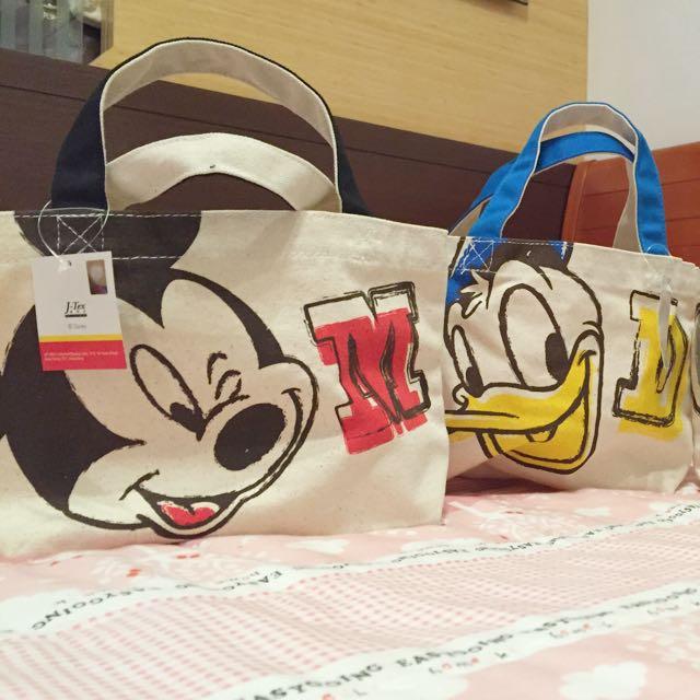 日本帶回的迪士尼手提包(米奇/唐老鴨)