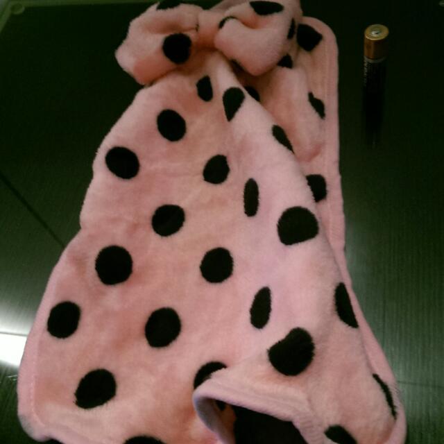 粉紅點點超舒服小毛巾