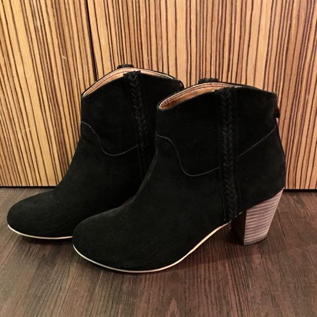 (保留)全新正韓版麻花短靴低跟好穿特價免郵