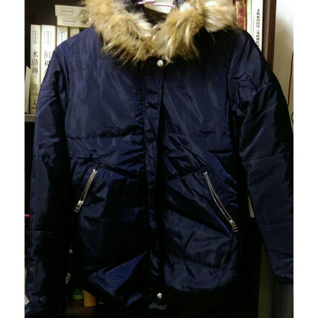 輕量鋪棉連帽尼龍外套大衣