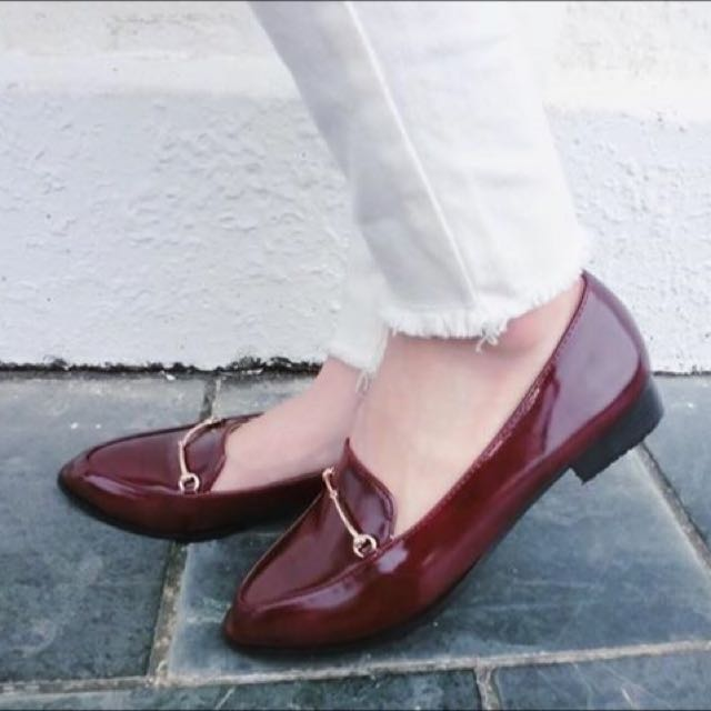 設計造型款 復古低跟休閒鞋