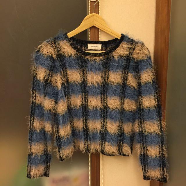 正韓貨 格子氣質毛衣