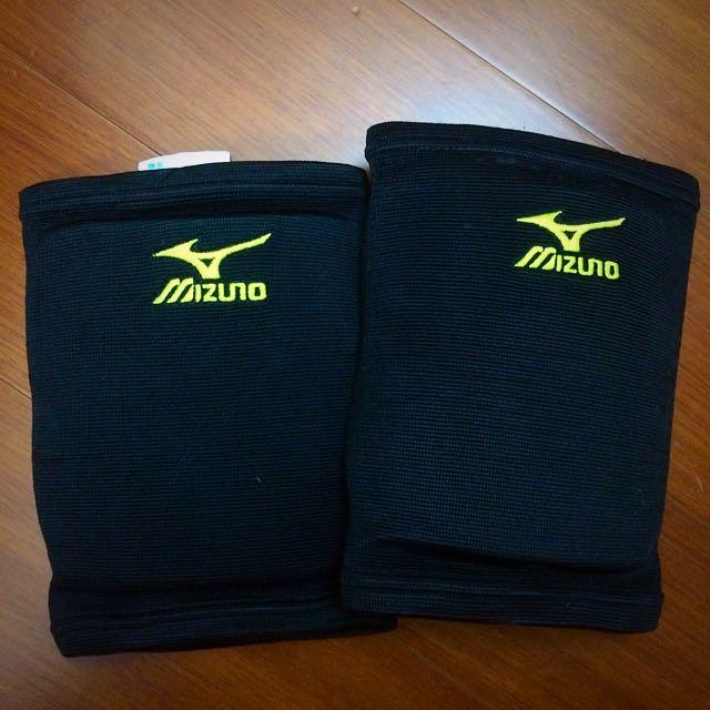 排球 護膝 Mizuno 防護用具 淺綠色