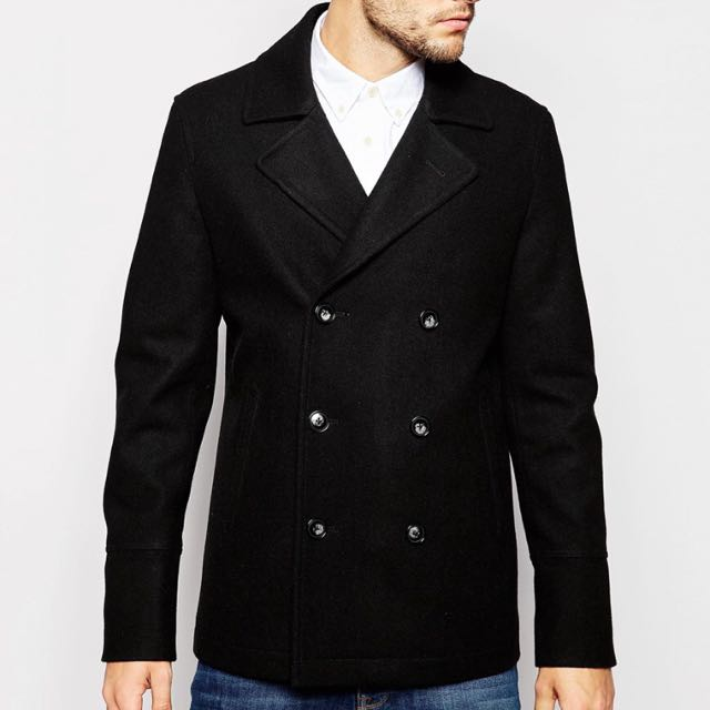 ASOS 羊毛 雙排扣外套 wool peacoat