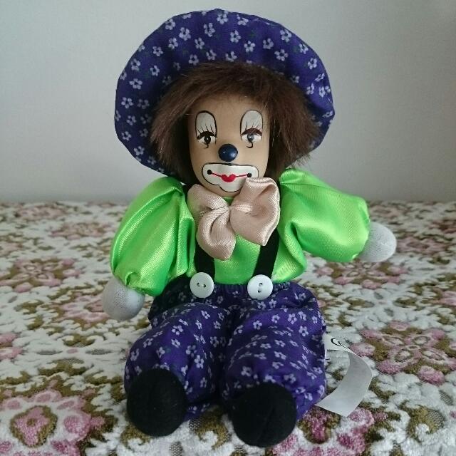 🐓BN 9 Inch Clay Face Bean Bag Sitting Clown Doll