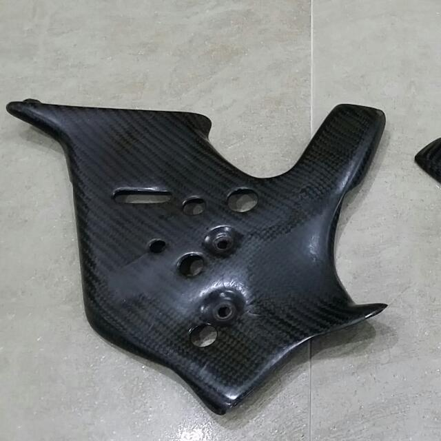 Carbon Fibre Lightspeed Frame Guard For Drz400sm, Cars on Carousell