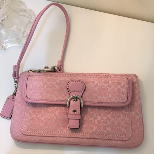 COACH手拿包(粉紅色)