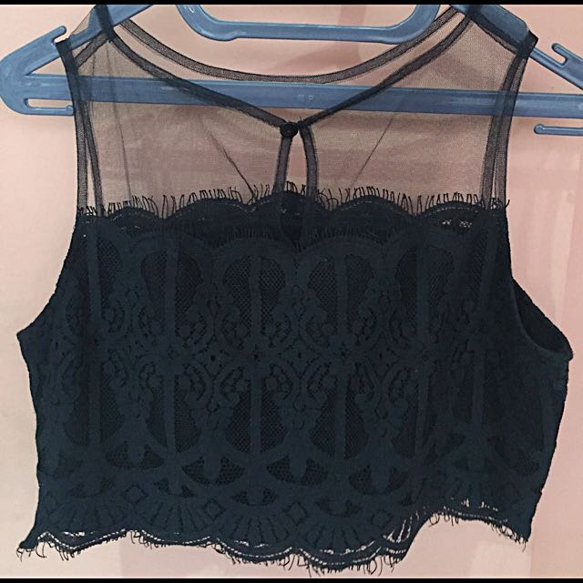 Crop Lace Top From Cloth Inc