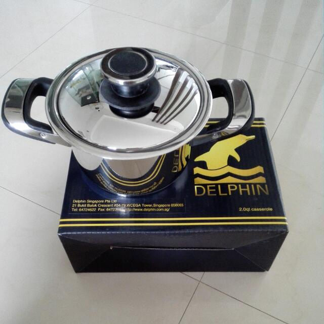 DELPHIN 2.0LITRES CASSEROLE (STAINLESS STEEL)