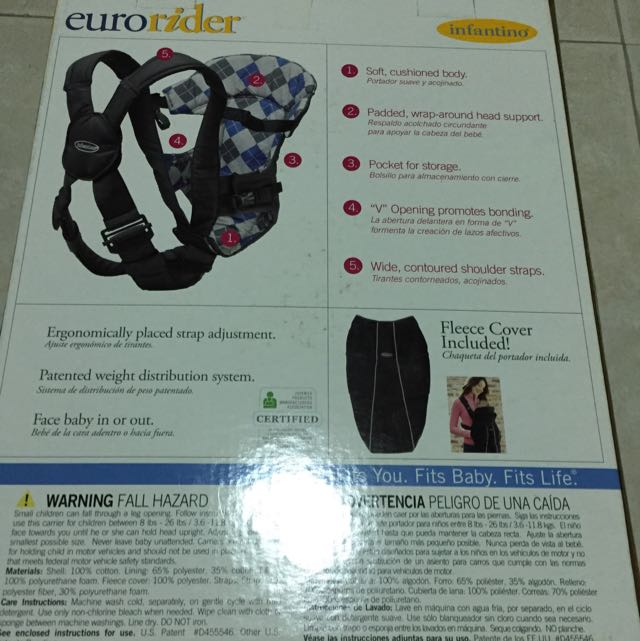 infantino eurorider baby carrier