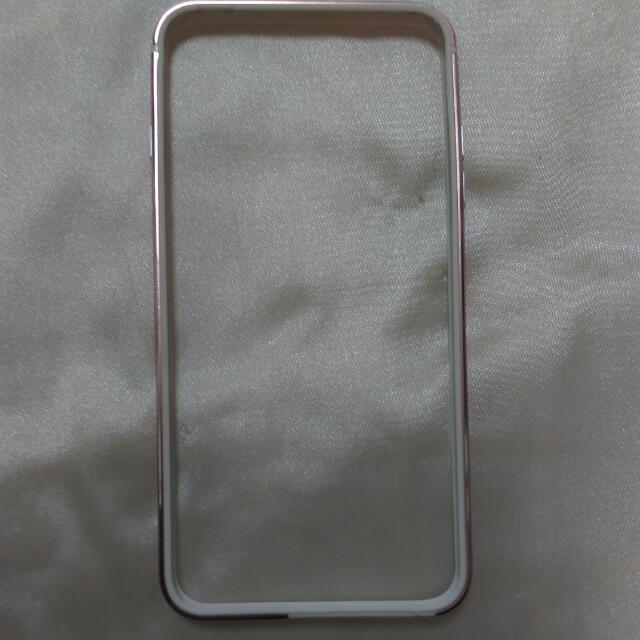 (全新)IPhone Plus 玫瑰金邊套