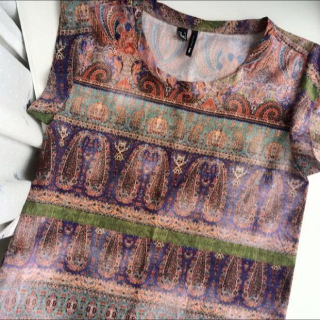 MNG Byzantine Printed Top