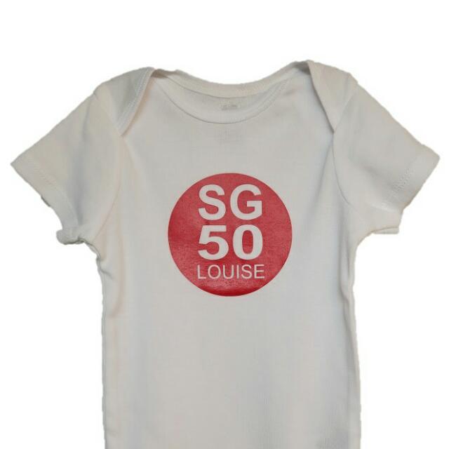 Personalised / Customised SG50 Baby & Toddler Romper Onesie