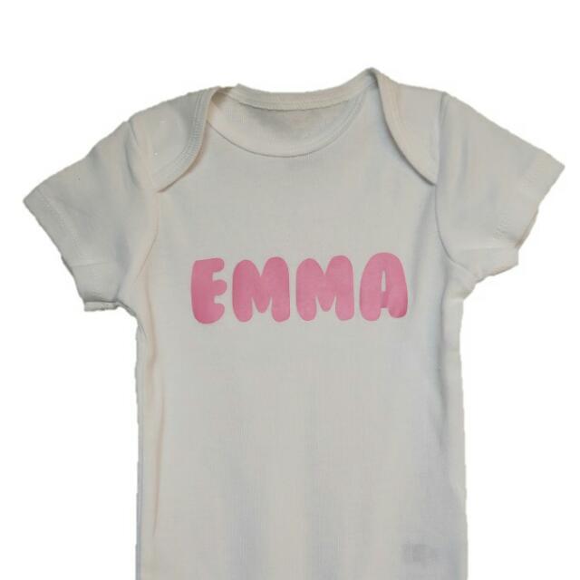 Personalised /customised Name Baby Toddler Rompers Onsies