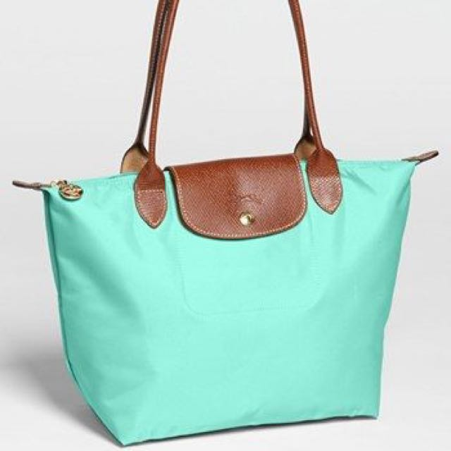 8eb7f1dddf Preloved Great Condition Longchamp Le Pliage Large Nylon Tote Bag, In  Limited Edition Mint Green Colour, Luxury on Carousell