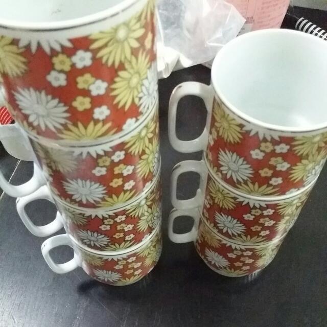 Stackable Vintage Cups.