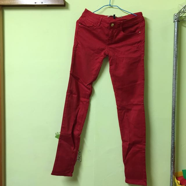 Zara正紅色長褲