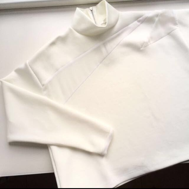 ZARA Off White Sweatshirt With Mesh Panel