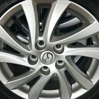 💕Mazda 3 4顆原廠16吋鋁圈+胎