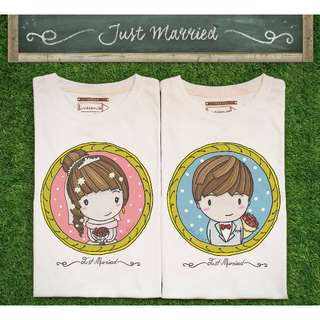 Just Married Wedding t-shirts