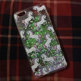 含運🦄️ iPhone 6/6s plus 獨角獸 馬 愛心 亮片 透明殼 流沙 流動 手機殼