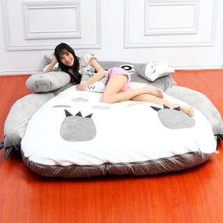 龍貓床墊單雙人加厚睡袋床(可拆洗)