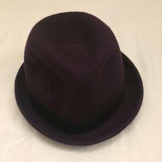 ✋🏻二手✋🏻深紫色紳士帽