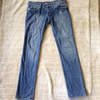 ON HOLD Blue Semi-Distressed Rusty Jeans