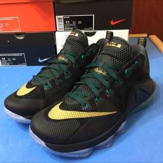 Nike lebron james LBJ 12代 LOW 黑金 低筒