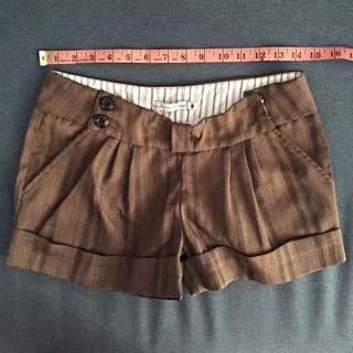 Brown Casual Short Size M