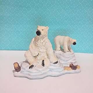 北極熊組擺飾品