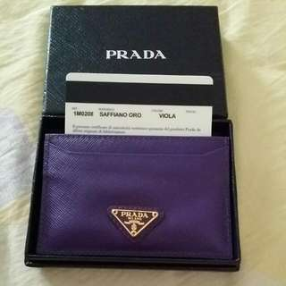 Authentic Brand New Prada Card Holder Selling At The Price I've paid $180 Foc Registered Mailed