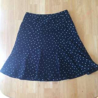 Review Black & White Polka Dot Skirt 8