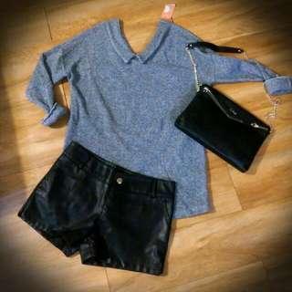 全新🎉灰色👈針織毛衣