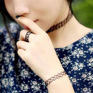 Tattoo Chokers Bracelets Rings