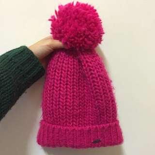 A&F 桃紅色毛帽💕