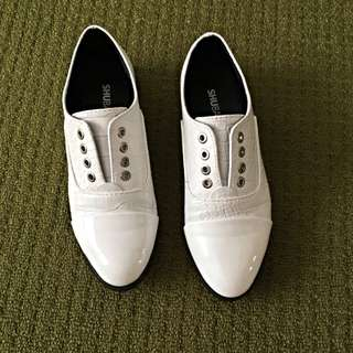 White Oxfords Size 37