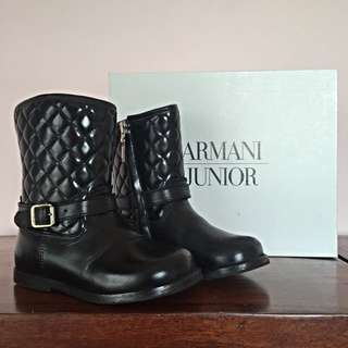 Armani Junior Girls Quilted Boots (size 26 EU)