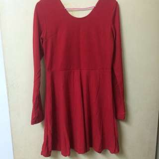 全新 紅色洋裝