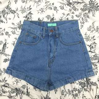 (BNWT) AA Inspired Light Denim Highwaist Shorts