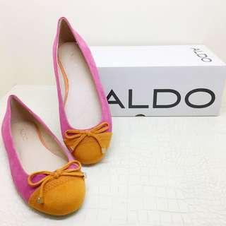 🚚 ALDO麂皮拼色娃娃鞋(全新)