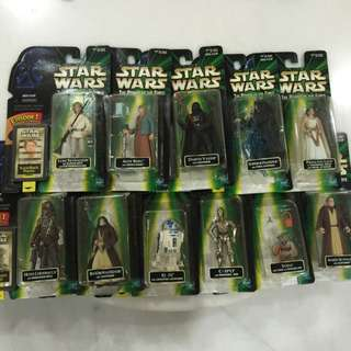 Star Wars Carded Figures With Flash Back Photo