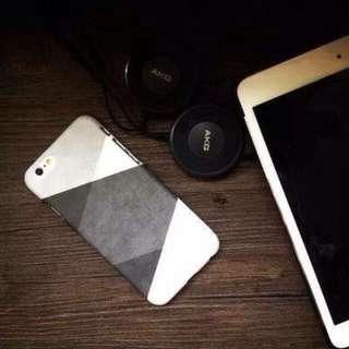 簡約黑白灰拼接磨砂手機殼 iPhone 6/6s 4.7 全新