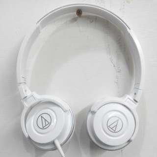 鐵三角 S100耳罩式耳機-白(ATH-S100 WH)